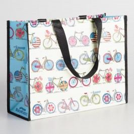 Bicycles Tote Bag: Blue/White by World Market