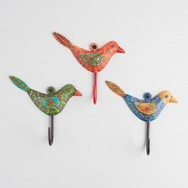 Spring Birds Hooks, Set of 3 - Metal by World Market