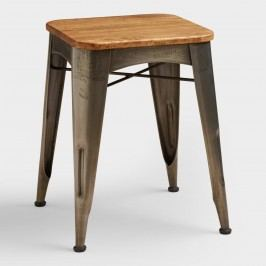 Brayden Metal and Wood Stool by World Market