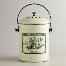 Metal Herb Compost Bucket: White by World Market