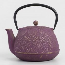 Plum Flower Cast Iron Teapot: Purple by World Market