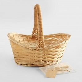 Natural Gift Basket Kit with Handle - Willow by World Market