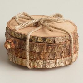 Wood Bark Coasters, Set of 4 by World Market