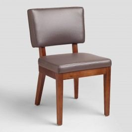 Gray Bonded Leather Sophia Chairs, Set of 2 - Fabric by World Market