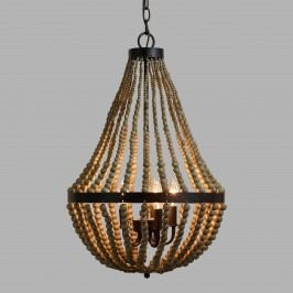 Small Wood Bead Chandelier: Natural by World Market