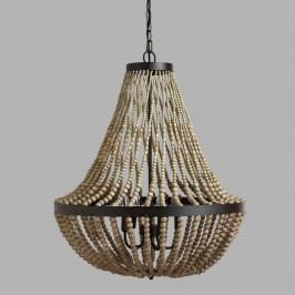 Large Wood Bead Chandelier by World Market