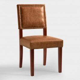 Caramel Jace Dining Chairs, Set of 2: Brown - Fabric by World Market