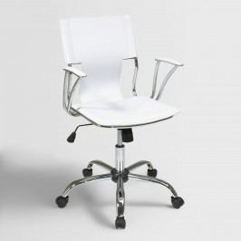 White Ethan Office Chair - Fabric by World Market