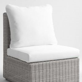 Replacement Veracruz Outdoor Patio Cushion 2 Piece Set: White - Fabric by World Market