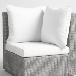 Replacement Veracruz Outdoor Patio Cushion 3 Piece Set: White - Fabric by World Market