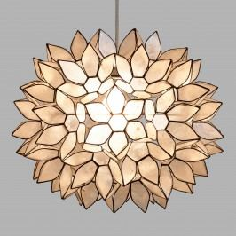 Large Capiz Lotus Pendant Shade: White - Capiz Shell by World Market