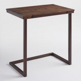 Oversized Wood and Metal Laptop Table: Brown by World Market