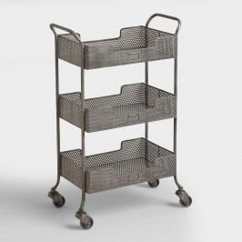 Zinc Yvette Metal Circle Cart: Gray by World Market