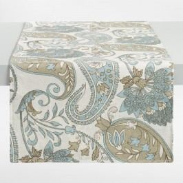 Blue Floral Paisley Table Runner - Cotton by World Market