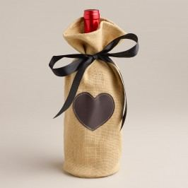 Jute Wine Bag with Chalkboard Label - Natural Fiber by World Market