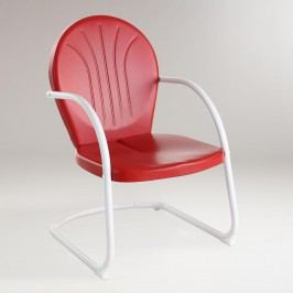 Red Durresi Metal Chair by World Market