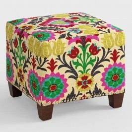 Desert Santa Maria McKenzie Upholstered Ottoman: Multi - Fabric by World Market
