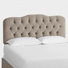 Velvet Rae Upholstered Bed: Gray - Full Bed by World Market Full/Dovegray