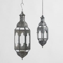 Antiqued Zinc Latika Hanging Lantern - Small by World Market Small