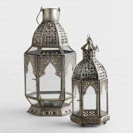 Antiqued Zinc Latika Tabletop Lantern - Large by World Market Large
