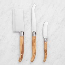 Olivewood 3-Piece Cheese Knife Set: Natural by World Market