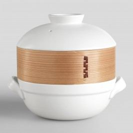 Ceramic Clay Pot with Bamboo Steamer by World Market