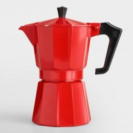 Red 6-Cup Stovetop Moka Pot Espresso Maker by World Market