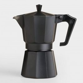 Black Matte 6-Cup Stovetop Moka Pot Espresso Maker by World Market