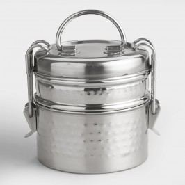 Hammered Metal Tiffin  Lunch Box by World Market