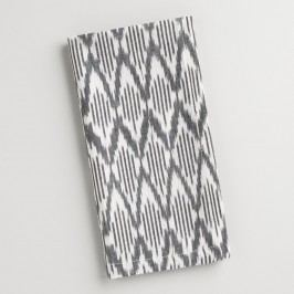 Black and White Ikat Napkins Set of 4 - Cotton by World Market