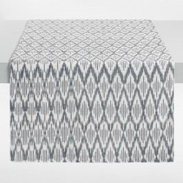 Black and White Ikat Table Runner - Cotton by World Market