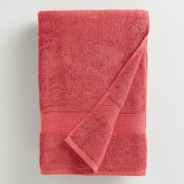 Coral Cotton Bath Towel: Orange/Pink by World Market