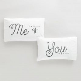 Me & You Pillowcases, Set of 2 by World Market
