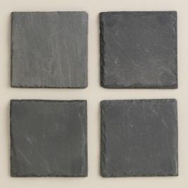 Square Slate Coasters, Set of 4 by World Market
