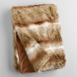Brown Faux Fur Throw - Acrylic  - 50