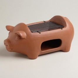 Terracotta Pig Grill by World Market
