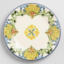 Peacock Salad Plates, Set of 6 - Earthenware by World Market