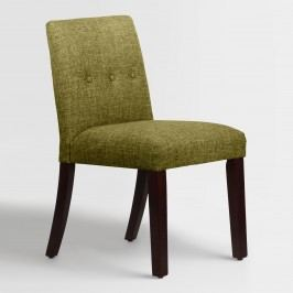Linen Blend Jule Upholstered Dining Chair - Fabric - Charcoal by World Market Charcoal