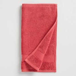 Coral Cotton Washcloth, Set of 2: Orange/Pink by World Market