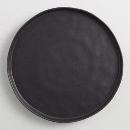 Black Organic Rimmed Charger Plates, Set of 4 by World Market