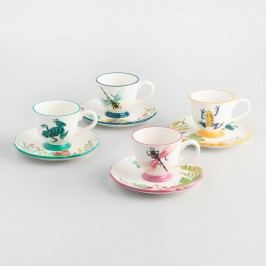 Fiji Teacups and Saucers, Set of 4 by World Market