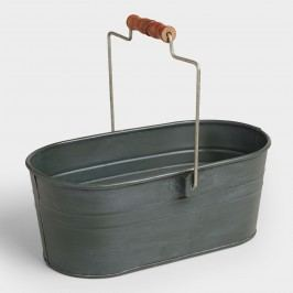 Steel Gray Metal Housekeeping Utility Bucket by World Market