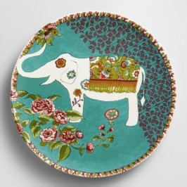 White Nomad Elephant Plates, Set of 4 by World Market