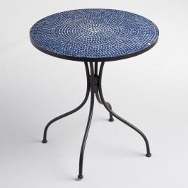 Peacoat Blue Cadiz Outdoor Patio Bistro Table - Metal by World Market