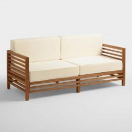 Wood Praiano Outdoor Patio Occasional Bench: Natural by World Market