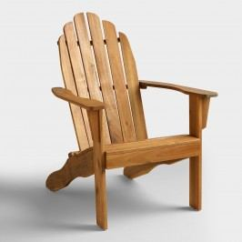 Natural Wood Adirondack Outdoor Patio Chair by World Market