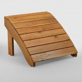 Natural Wood Adirondack Outdoor Patio Footstool by World Market