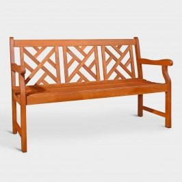 Large Eucalyptus Wood Mady Outdoor Patio Bench by World Market