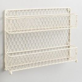 Antique White Wire Two-Tier Spice Rack by World Market