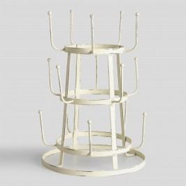 Antique White Wire 3-Tier Glass Drying Rack by World Market